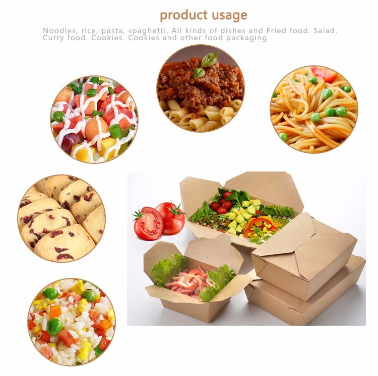 Disposable Printed Craft Paper Board Food Packing Lunch Box