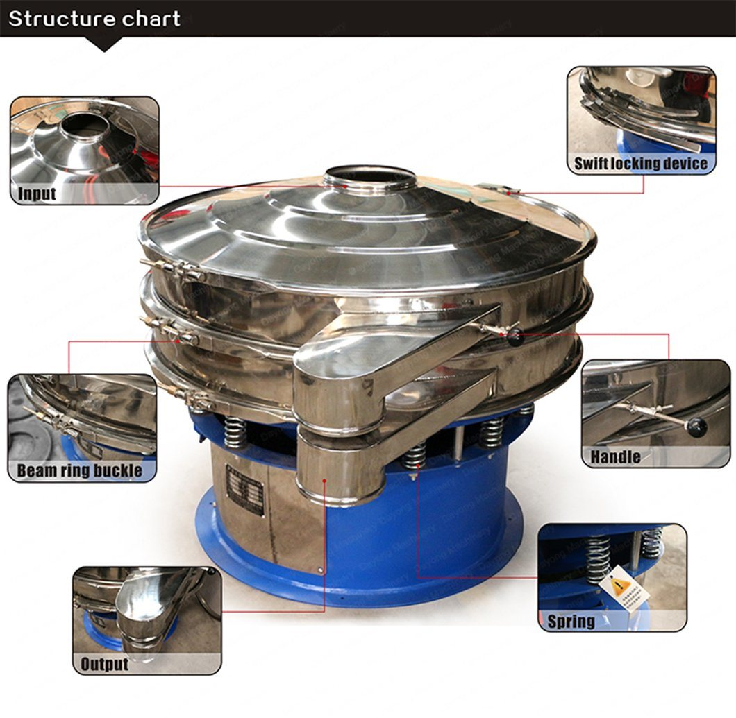 Circular Vibro Sifter/Stainless Steel Rice Flour Filter Sieve/Grain Sifting Machine