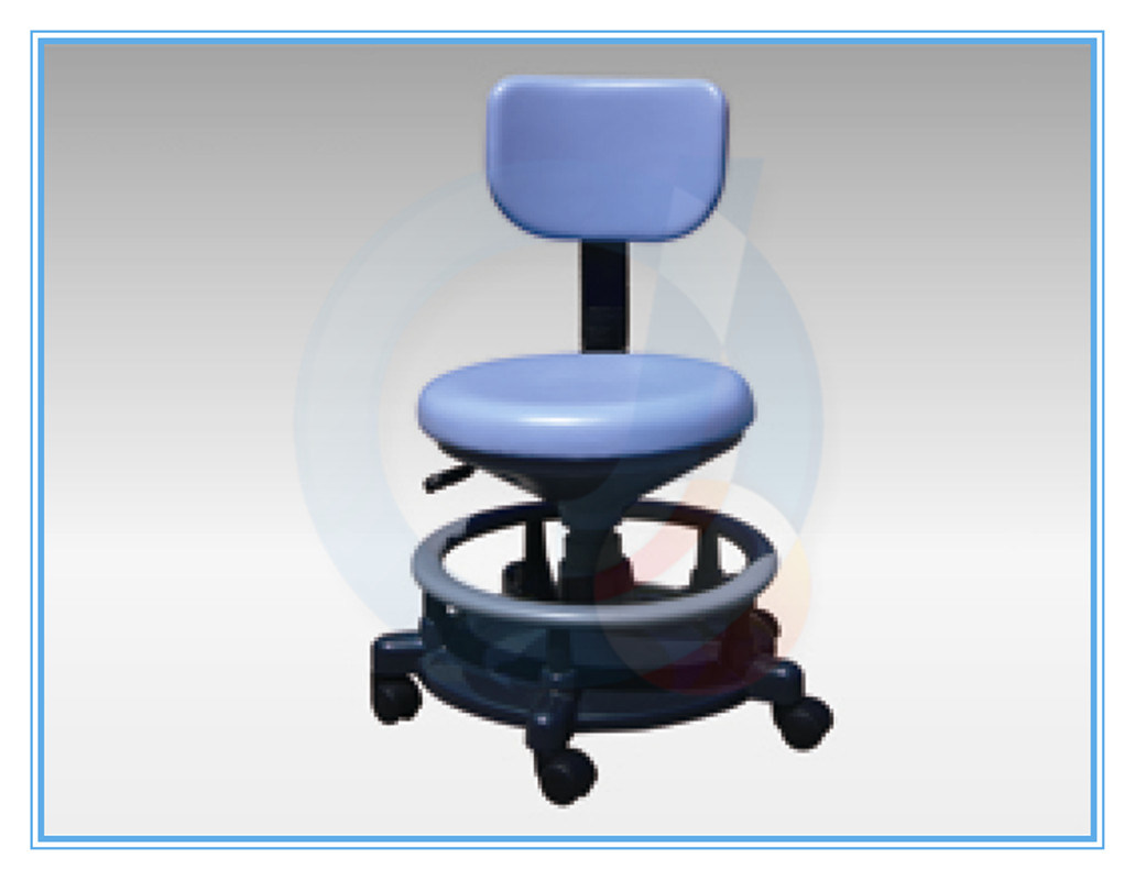 Height-Adjustable Healthcare Facility Stool / Rotating / on Casters