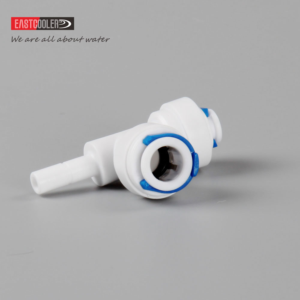 Tee Plug in/Push Fit Fitting for RO Water Filter