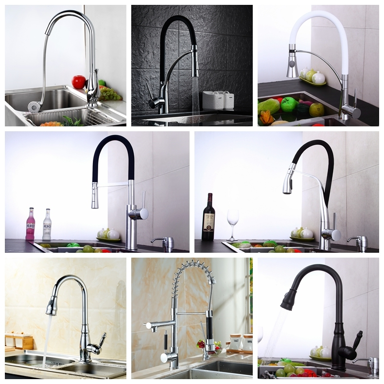 Professional Manufacturer 3 Way Hot and Cold Water Mixer Kitchen Faucet Pull out with Spray Sead
