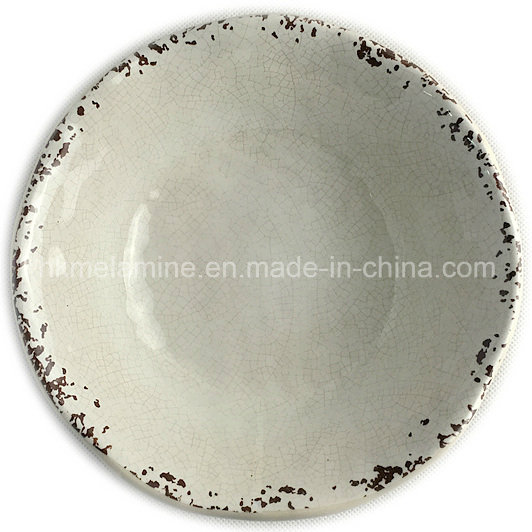 Melamine Salad Bowl with Crack Effect