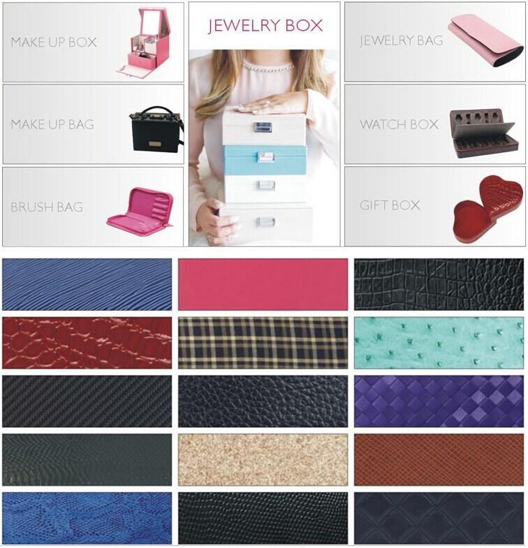 Fashion Creative Fuax Leather Jewelry Box (8748)
