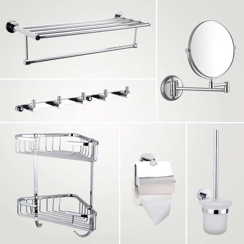 Stainless Steel Bathroom Accessories Mirror Shampoo Basket