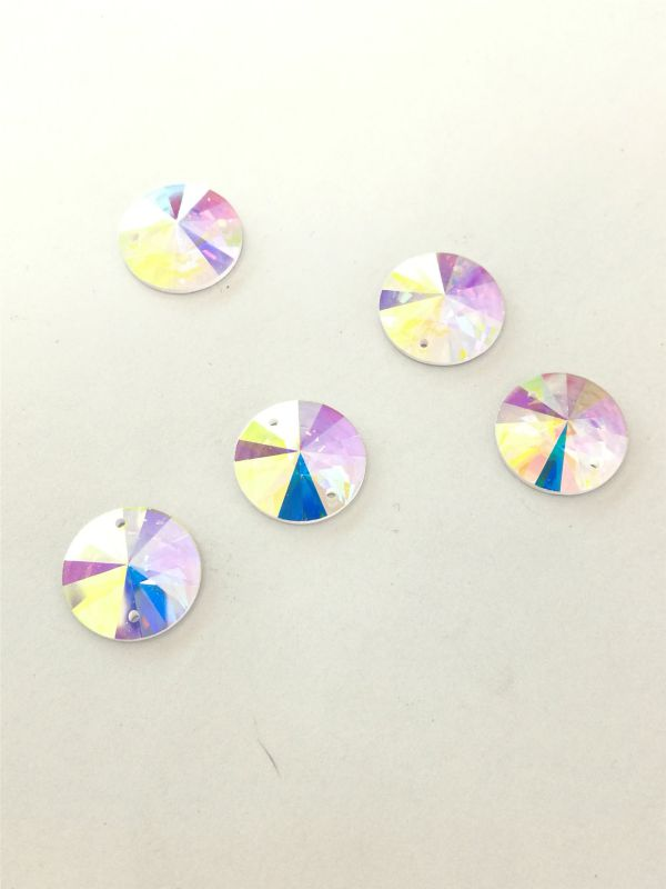Colorful Flat Back Round Glass Beads Stones Strass