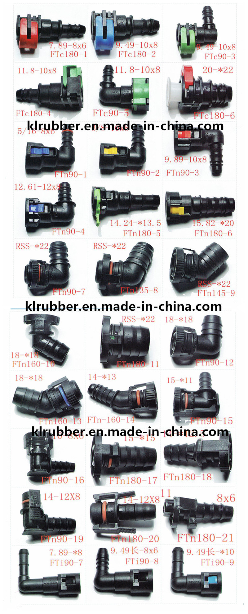 High Quality Plastic Hydraulic Fitting for Auto Rubber Hose