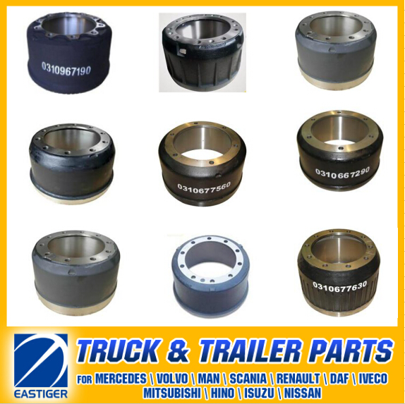 Over 200 Items Trailer Parts of Brake Parts Brake Drum