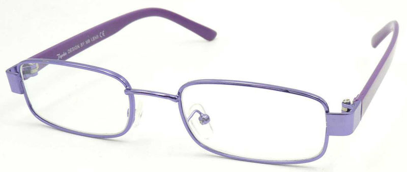 RM17055 Small Frame Metal Reading Glass with PC Temple Unisex Style