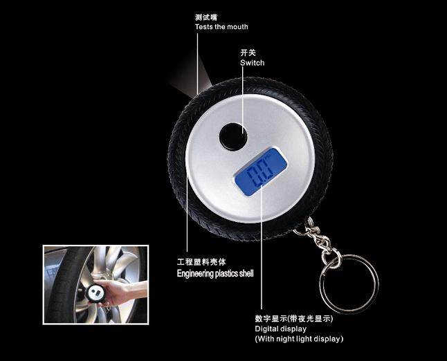 Hot High Quality LCD Digital Display Car Used Tire Pressure Gauge