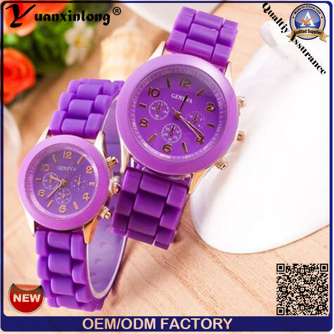 Yxl-783 New Arrival Jelly Silicone Watch Transparent Silicone Watch Plastic Quartz Silicone Watch