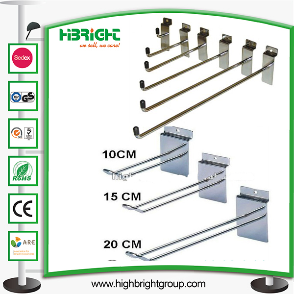 Single Double Wire Metal Hook for Retail Store