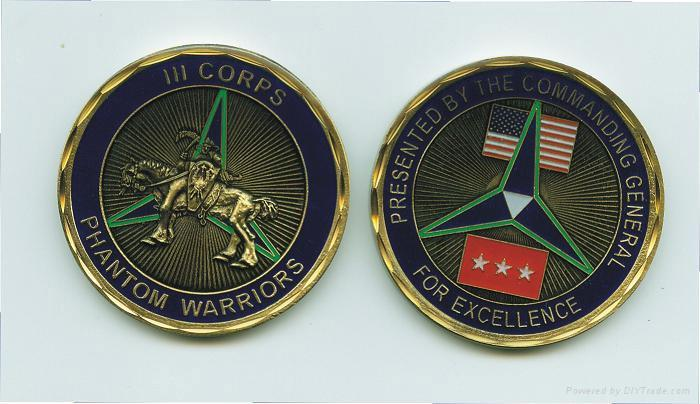 Military Army with Soft Enamel Logo Coin (GZHY-YB-004)