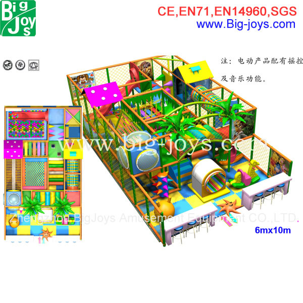 Commercial Indoor Playground, Plastic Playground for Sale (BJ-AT23)