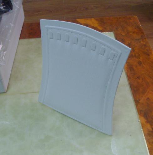 White Blue Leather PU MDF Earring Jewelry Organizer (BT-R1)