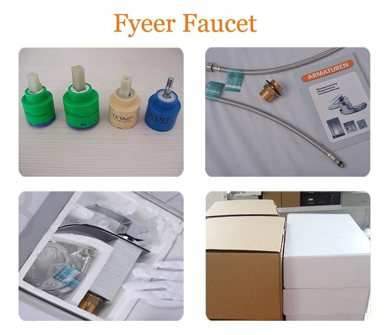 Fashion 3 PCS Set Widespread Basin Faucet Bathroom Mixer Taps
