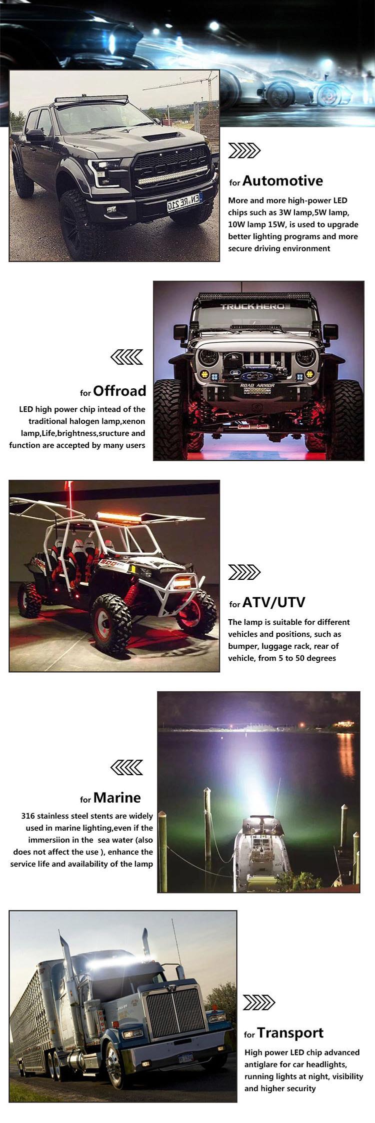 6D Single Row 20 Inch 90W Super Slim Offroad Jeep LED Light Bar