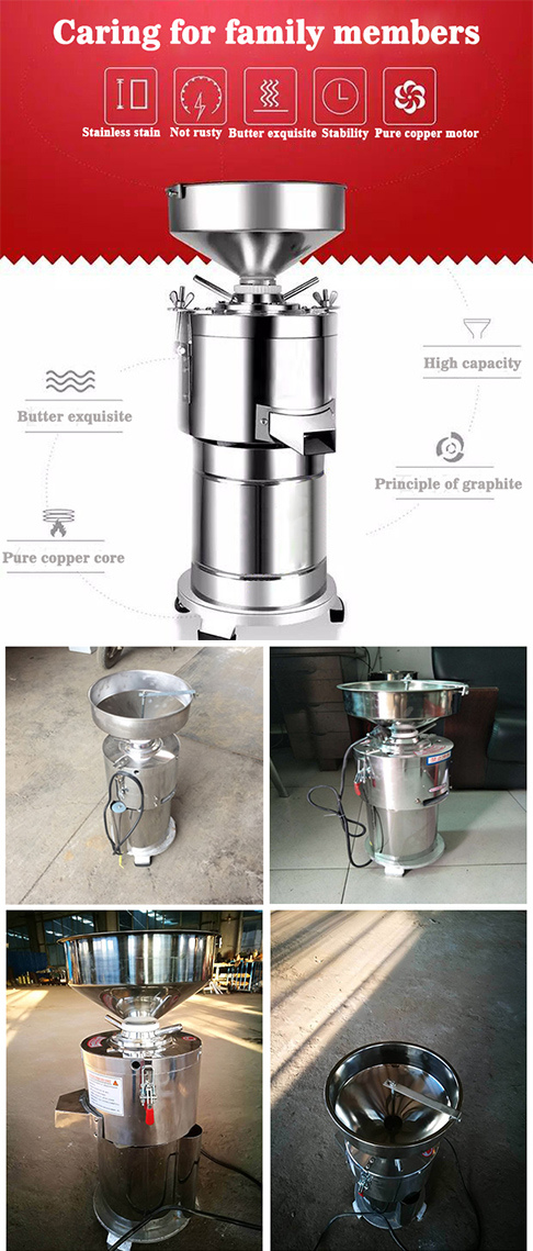 Industrial Sesame Paste Peanut Cocoa Butter Peeling Making Production Nut Butter Maker Machine