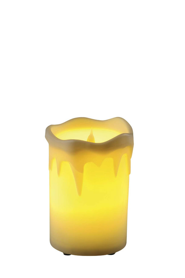 LED Bar Candle Opal Glass Table Lamp
