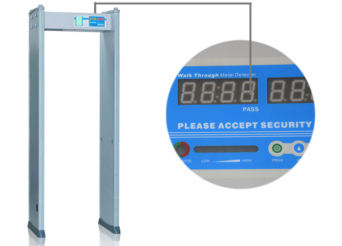 4 Zones Indoor Use Metal Detector Gate with Switch Power