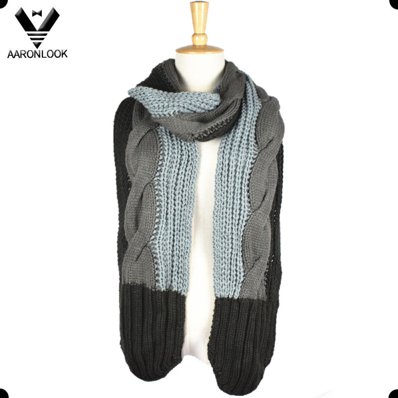 2016 New Fashion Cable Knit Unique Scarf Pattern