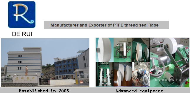 Expanded PTFE/Teflon Tape with Self-Adhesive for Water Pipe