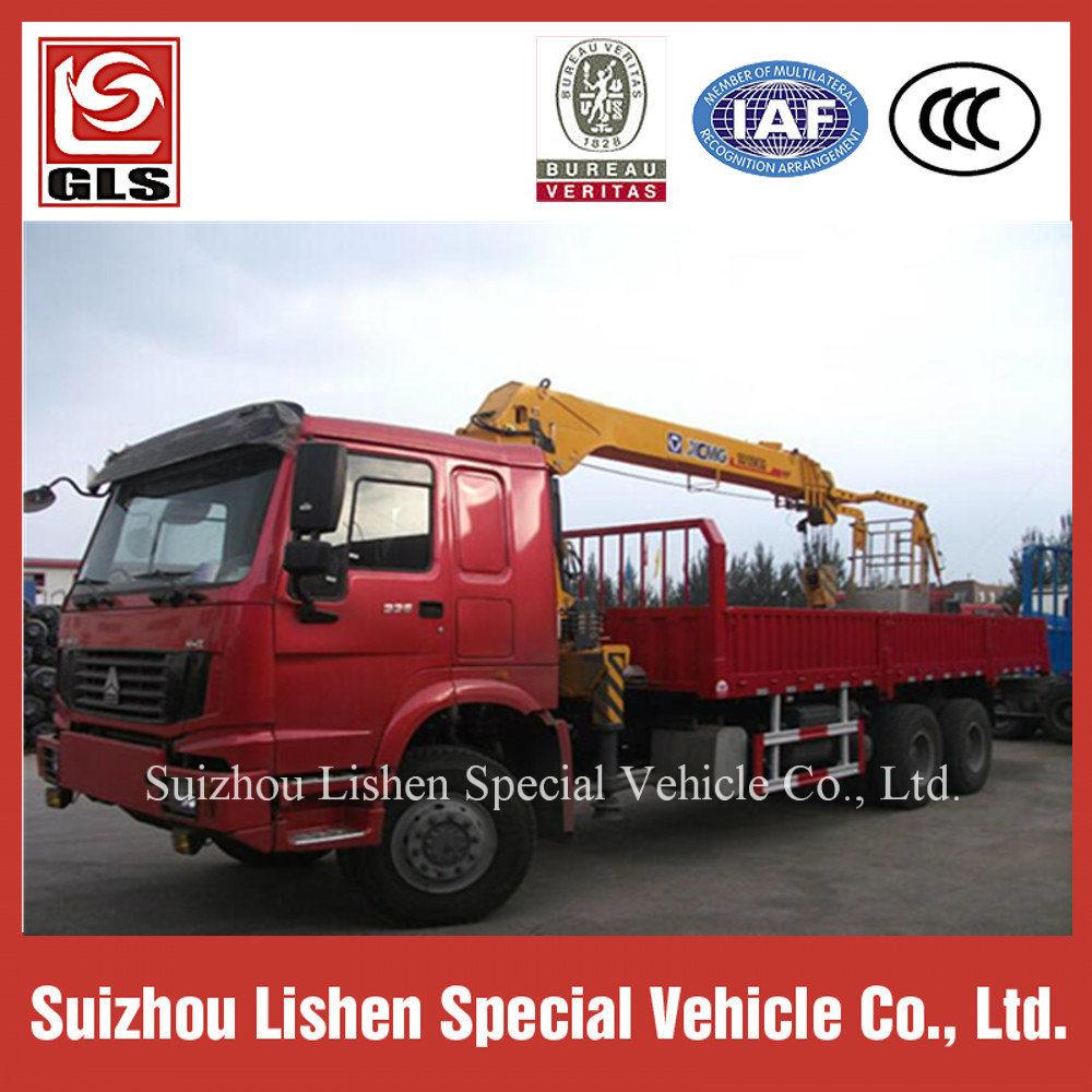 HOWO 4*2 Crane Truck Telescopic Crane Truck Sinotruk Heavy Duty