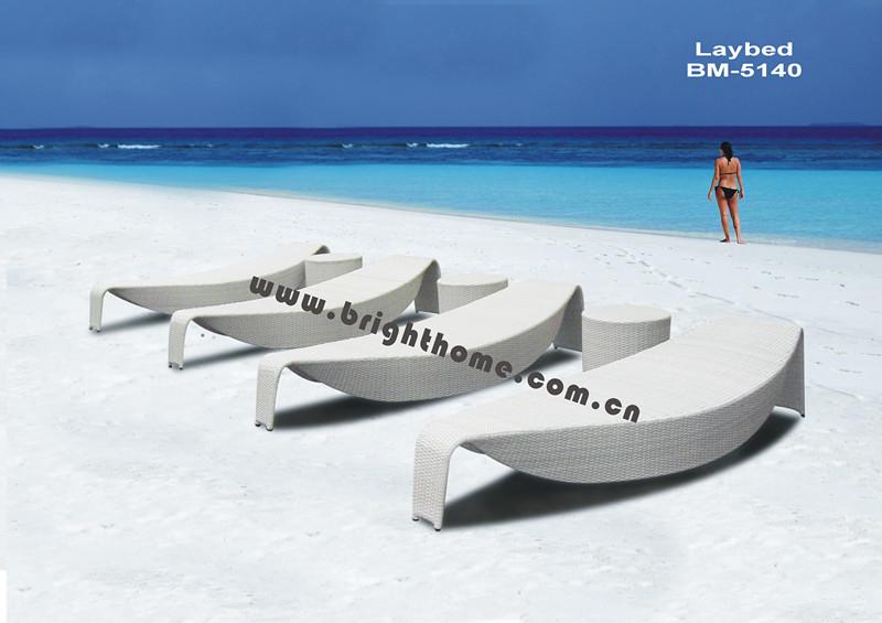 Excellent Design Rttan Wicker Outdoor Sun Bed