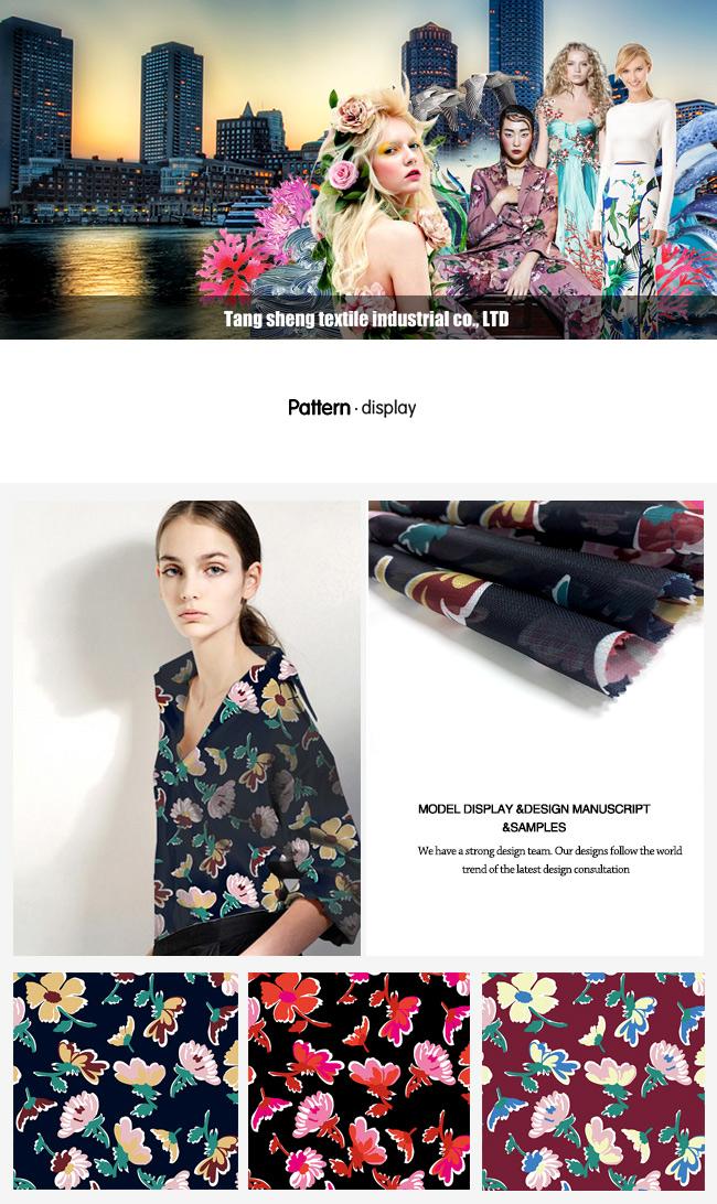 Flower Printed Chiffon/ Tencel Fabric for Fashionable Garments