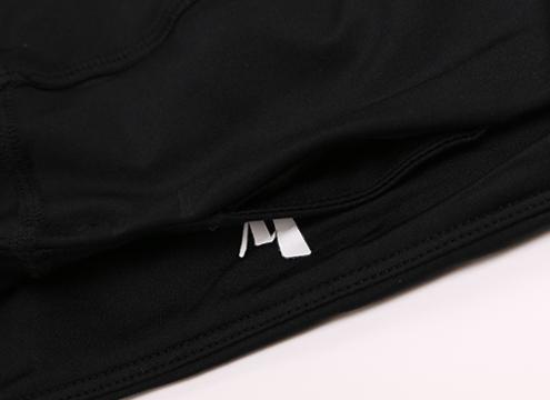 Spliced Mesh Hidden Pocket Breathable Cotton / Spandex Blend Capri Legging