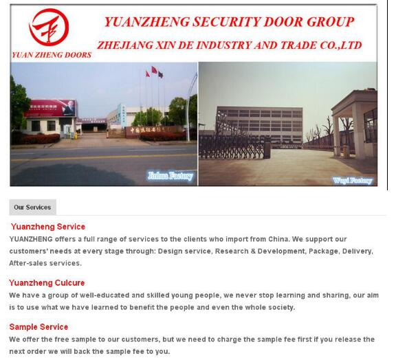 Exterior Security Steel Door for House