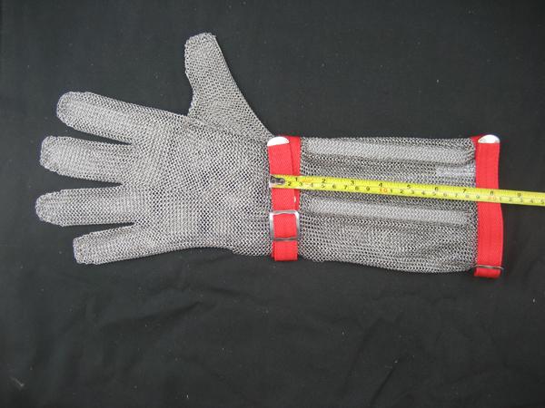 Long-Sleeve Chain Mail Protective Anti-Cut Glove