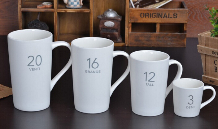 Ceramic Gift Cups Coffee Mugs with Customer Logo Design