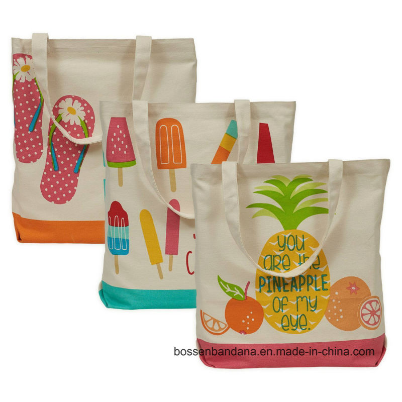 Custom Made Logo Printed Promotional Cotton Canvas Craft Tote Bag