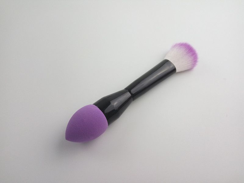 Portable Design Double Ended Sponge&Blush Brush
