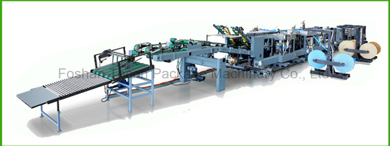 High Technology Paper Bag Machine with Two- Colour Printing Equipment