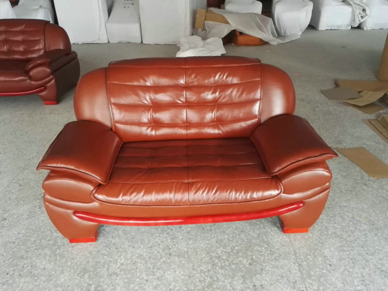 Top Grain Leather Sofa for Living Room Furniture (A1108)