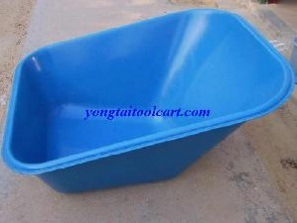 10cbf Blue Poly Wheelbarrow Tray