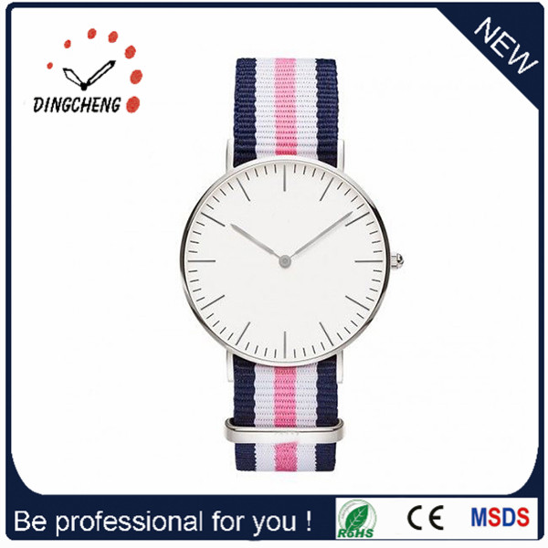 2015 Factory Cheap Men's Gift Watch with Nylon Strap (DC-1013)