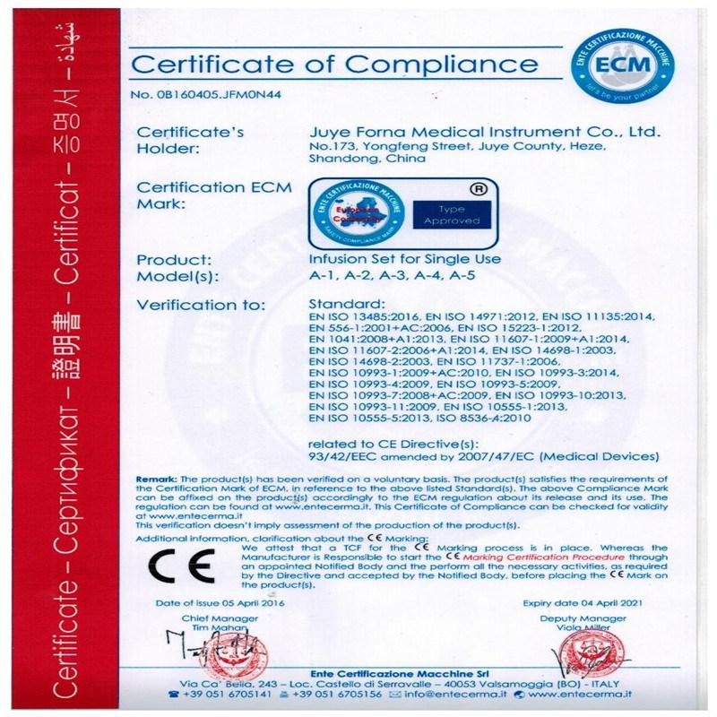 Manufacturer Burette Infusion Set 100ml /150ml