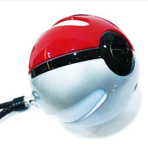 Pokemon Portable Magic Ball 10000mAh Power Bank Charger LED Lighting