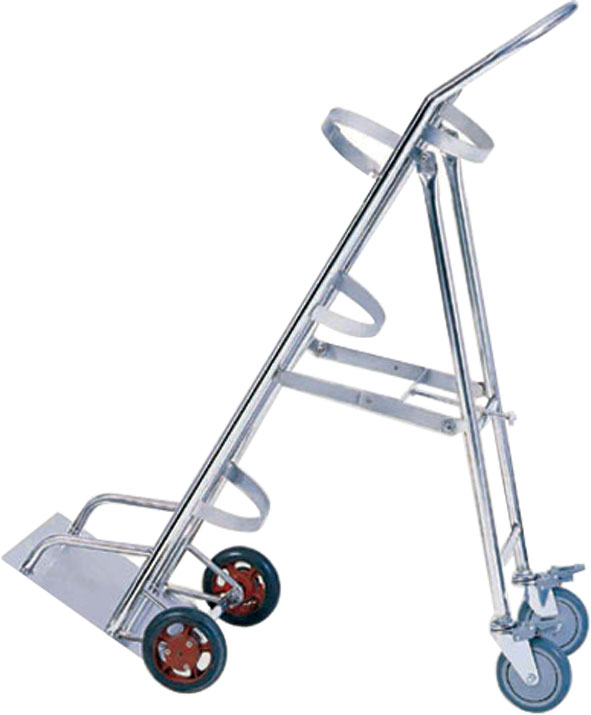 Stainless Steel Medical Trolley for Oxygen Cylinder Trammer in Hospital