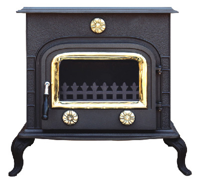 Wood Burning Stoves with Boiler (FIPA043B) , Cast Iron Stove