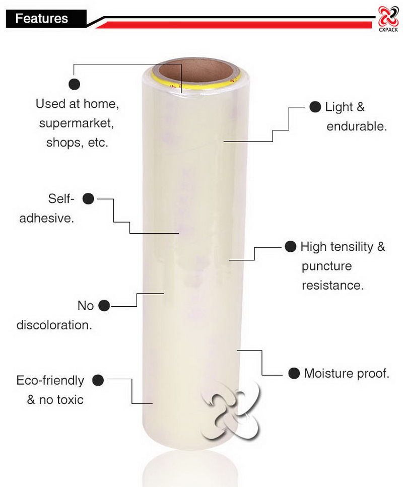 Pe Packaging Pvc Cling Wrap Film