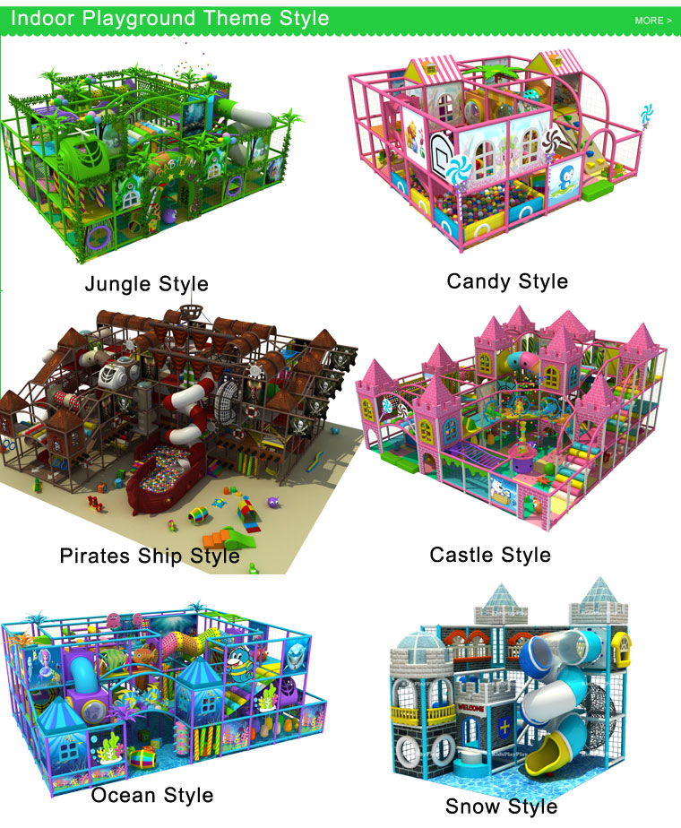 Commercial Children Favourite Indoor Soft Playground for Sale