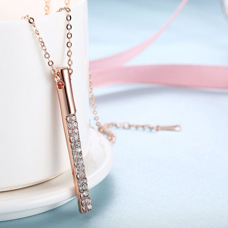Fashion Jewelry Rose Gold Plated Pendant Necklace Hot Sale