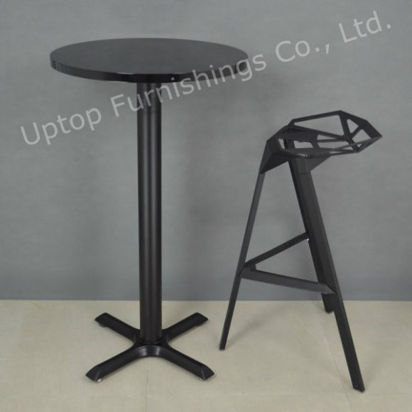 Black Modern Style Round Small High Bar Table (SP-BT676)