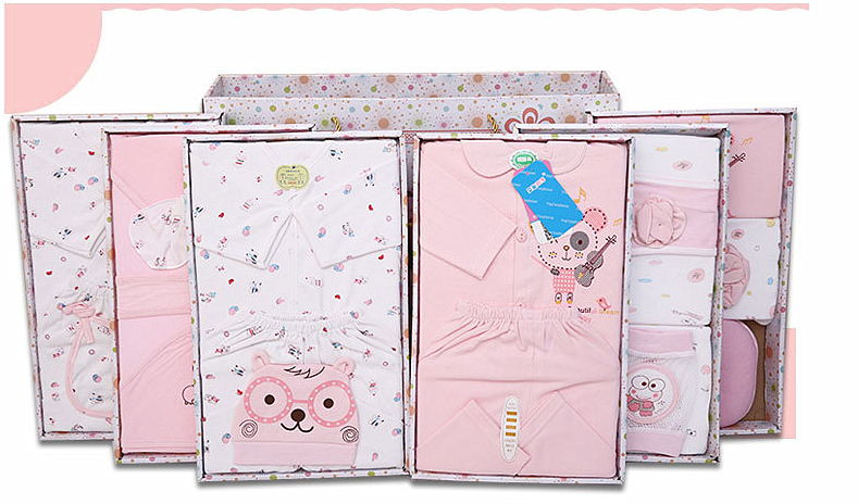 23PCS Baby Cotton Clothes Set for New Born Baby with Fashionable Gift Box
