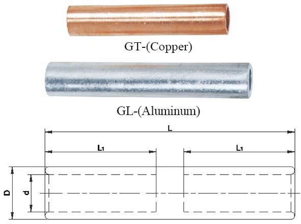 Gt & Gl Type Copper & Aluminum Connecting Tubes