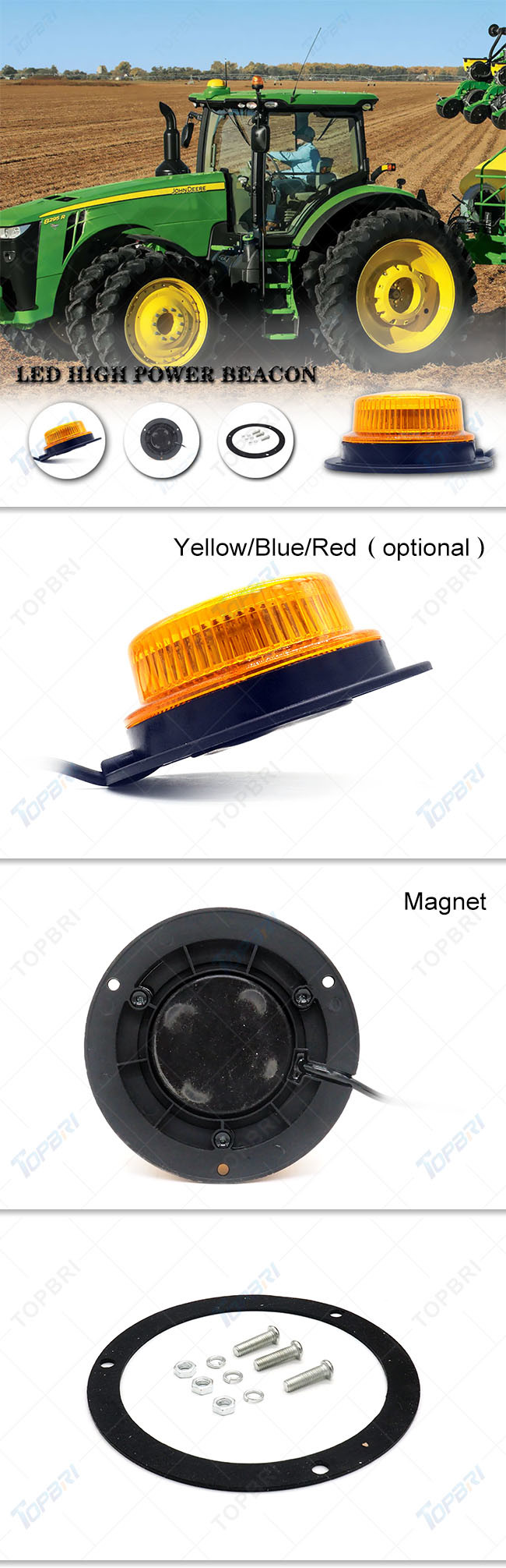 Magnet Cigarette Amber Strobe Beacon LED Emergency Light