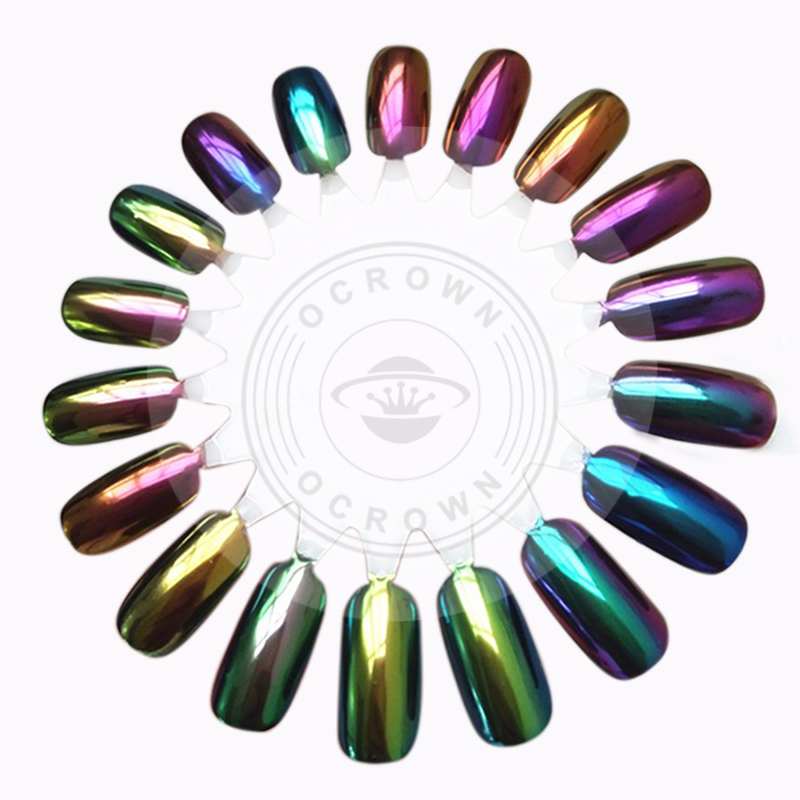 Acrylic Mirror Chrome Chameleon Pigment Nail Gel Polish Mica Powder